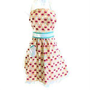 Porridge April Bib Tie Cherries Patch Pocket Ruffl